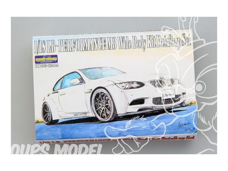 HOBBY DESIGN Kit amelioration 03-0284 LB-Performance M3 Wide kit carosserie 1/18