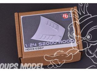 HOBBY DESIGN Kit amelioration 03-0367 Capot moteur Honda S2000 1/24