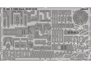 EDUARD photodecoupe 49460 F-16DJ BLOCK 40/50 USAF S.A. Kinetic 1/48