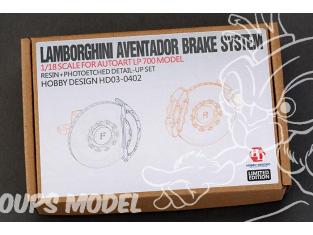 HOBBY DESIGN Kit amelioration 03-0402 Disques de freins Lamborghini Aventador LP700 Autoart 1/18
