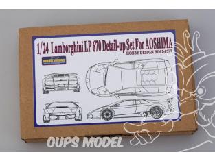 HOBBY DESIGN Kit amelioration 02-0277 pour Lamborghini LP670 Aoshima 1/24