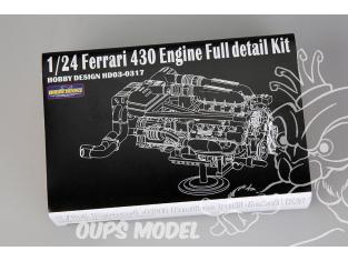 HOBBY DESIGN Kit amélioration 03-0317 Moteur pour Ferrari 430 1/24