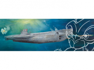 TRUMPETER maquette sous marin 06801 U-BOAT TYPE VIIC U-552 DEUTSCH KRIEGSMARINE 1942 1/48