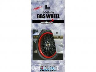 "Fujimi maquette voiture 193274 Jantes BBS Wheel 17"" et pneus 1/24"