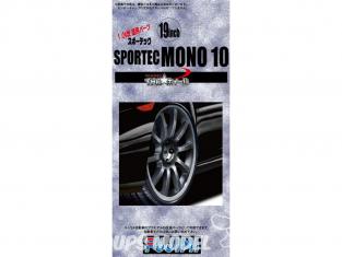 """Fujimi maquette voiture 192802 Jantes Sportec Mono 10 19"""" et pneus 1/24"""