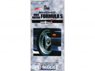 "Fujimi maquette voiture 193298 Jantes Volk RAcing Formula S 17"" et pneus 1/24"