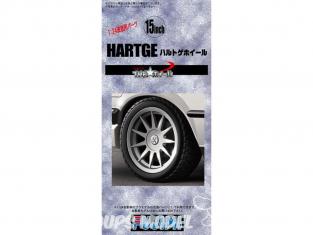 """Fujimi maquette voiture 192987 Jantes Hartge 15"""" et pneus 1/24"""