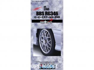 "Fujimi maquette voiture 193045 Jantes BBS RG346 17"" et pneus 1/24"