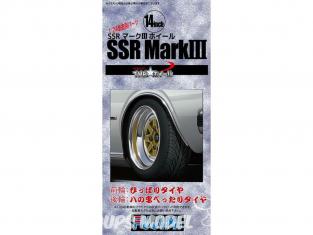 """Fujimi maquette voiture 193342 Jantes SSR Mark III 14"""" et pneus 1/24"""