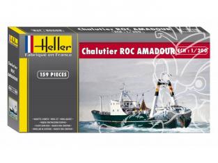 Heller maquette bateau 80608 Chalutier Roc Amadour 1/200