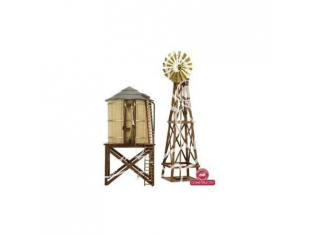 Constructo kit bois 80310 Moulin et chateau d'eau 1/87