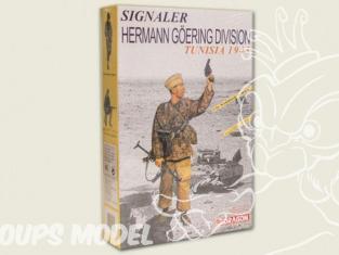 Dragon maquette militaire 1608 Signaler Hermann Goering Dividion Tunisie 1943 1/6