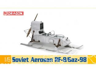 Dragon maquette militaire 75044 Aerosan Sovietique RF-8 Gaz-98 1/6