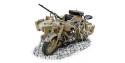 Italeri maquette moto 7403 BMW ou Zundap side-car militaire WWII 1/9