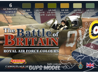 Lifecolor set de peintures cs35 La Bataille d'Angleterre couleurs de la Royal Air Force