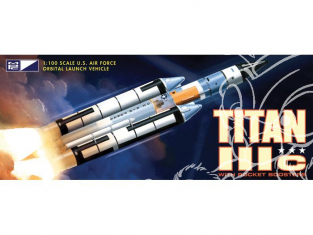 Mpc maquette espace 790 Titan (fusée) IIIC avec Booster 1/100