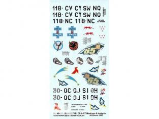 DECALQUES BERNA DECALS BD48-125 Mirage F1B CR et CT marquage et insigne  avec Kosovo 1999 1/48