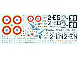 DECALQUES BERNA DECALS BD32-45 Mirage IIIC Les Chevaliers du ciel 1/32