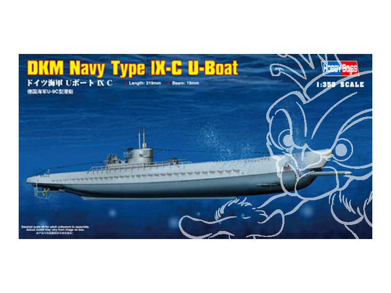 hobby Boss maquettes sous marin 83508 DKM Navy type IX-C U-Boat 1/350
