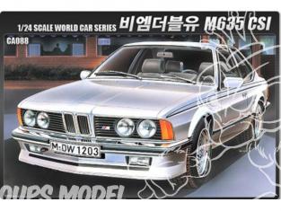Academy maquette voiture 15102 BMW M635CSI 1/24