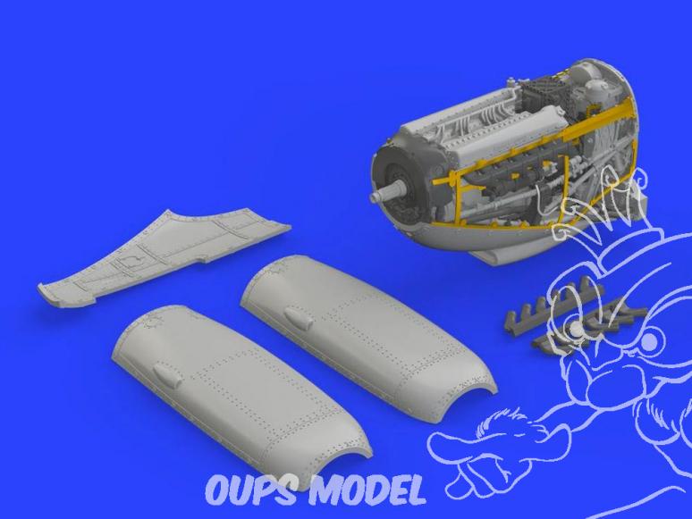 Eduard kit d'amelioration brassin 672126 Moteur Spitfire Mk.IX Eduard 1/72