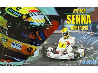FUJIMI maquette voiture 91525 Karting Ayrton Senna 1993 Pre-peint 1/20