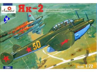 Amodel maquette avion 7241 YAK-2 BOMBARDIER SOVIETIQUE 1/72