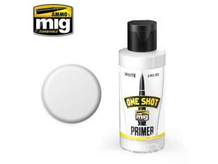 MIG One Shot Primer 2022 Appret acrylique Blanc (60 ml)