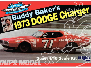 MPC maquette voiture 811 Buddy Baker 1973 Dodge Charger Stock Car 1/16