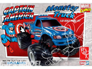 AMT maquette voiture 857 Monster truck Capitain America 1/32