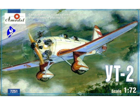 Amodel maquette avion 7251 UT-2 APPAREIL SOVIETIQUE 1/72