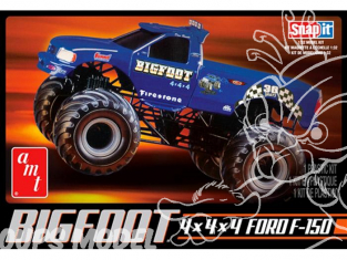 AMT maquette voiture 805 Big Foot F-150 4x4x4 Monster Truck Snap 1/32
