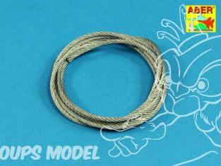Aber TCS25 Cable acier 2,5mm 120cm