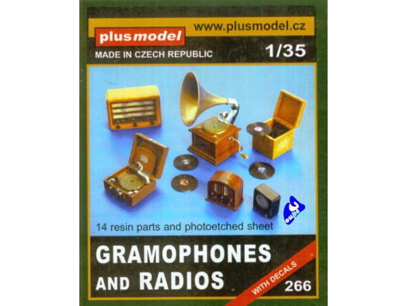 Plus Model 266 Set de GRAMOPHONES ET POSTES DE RADIO 1/35