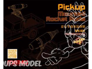 Meng maquettes militaire SPS-034 SET PODS DE ROQUETTES pour VEHICULES TYPE PICK UP 1/35