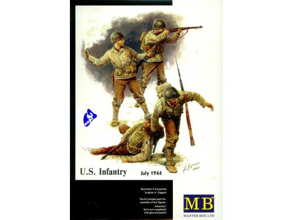 Master Box maquette militaire 3521 US INFANTRY JUILLET 1944 1/35