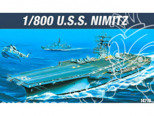 Academy maquette bateau 14213 CVN-68 USS Nimitz 1/800