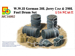 Classy Hobby maquette militaire 16002 Futs et Jerry Can Allemand 1/16