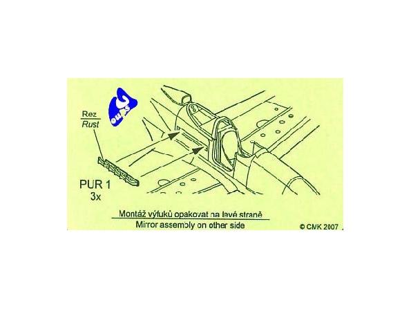 CMK Set en résine q48002 BELL P 39 ECHAPPEMENT 1/48