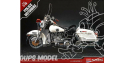 Academy maquette moto 15500 Harley davidson Police 1/10