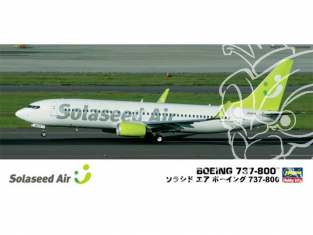HASEGAWA maquette avion 10740 Boeing 737-800 Solaseed Air 1/200