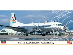 HASEGAWA maquette avion 10819 YS-11E Electronic Warfare SQ Limited Edition 1/144