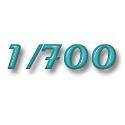 1/700 Piéces plastique bateau